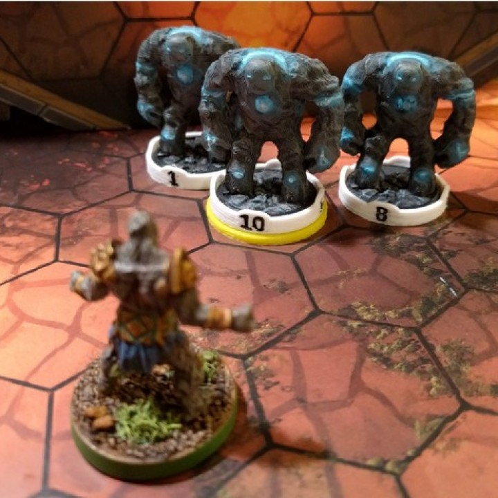 Numbered Miniature Base Markers