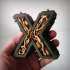 Steampunk letter X image