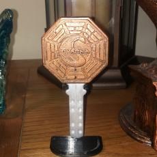 Lost  Dharma Initiative Key w/ Stand