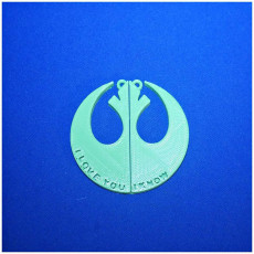 Picture of print of Star Wars Rebel Love Necklace