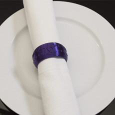 Picture of print of Klingon Napkin Ring