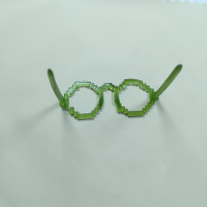 Picture of print of Minecraft party glasses