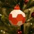 Truncated Icosahedron Christmas Ornament image