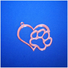 Picture of print of Love Dog keychains