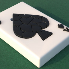 Poker Ace of spades card Puzzle