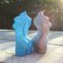 Woman body optimised for vase mode print image