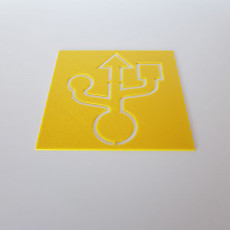 USB Symbol Stencil