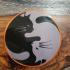 Cat Yin Yang Coaster image