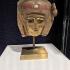 An egyptian polychrome gilt cartonnage mummy mask image