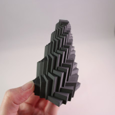 Picture of print of Spiral Pyramid - Geometric structure generated by math rules