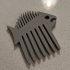 Fish-shaped comb for beard image