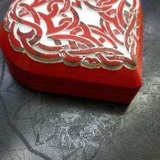 Picture of print of Celtic Heart Pattern Box