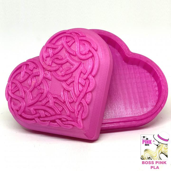 Celtic Heart Pattern Box