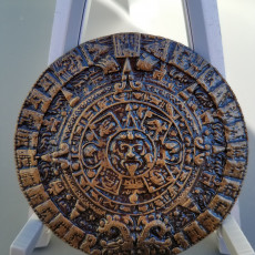 Picture of print of Aztec sun stone This print has been uploaded by Steven McNichols