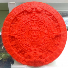 Picture of print of Aztec sun stone This print has been uploaded by Bruno
