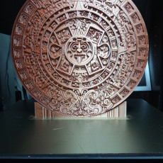 Picture of print of Aztec sun stone This print has been uploaded by David Martinez