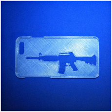 Picture of print of assault rifle iphone 6 case
