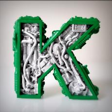 Steampunk letter K.
