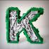 Steampunk letter K. image