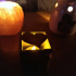 Heart electric candle box . image
