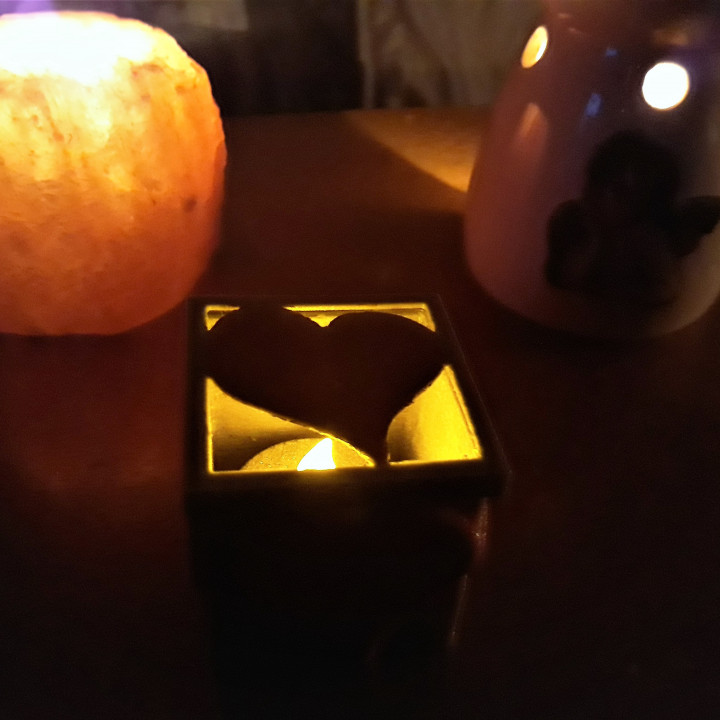 Heart electric candle box .