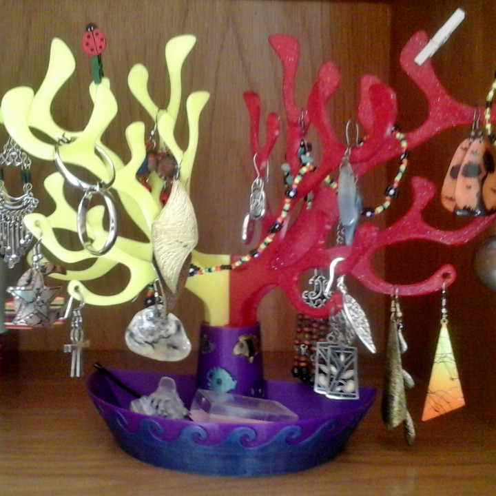 CORAL EXHIBITOR FOR BRACELETS, EARRINGS AND NECKLACES