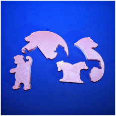 Picture of print of 4 bears puzzle