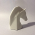 low poly horse head image