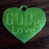 GOD is Love Heart Pendant image