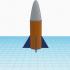 fusée faite par mon fils avec tinkercad image