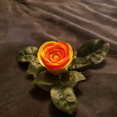 Picture of print of Realistic Rose