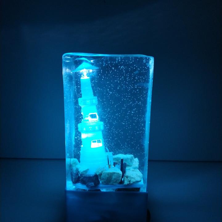 NIGHT LAMP : LIGHTHOUSE UNDER THE SEA