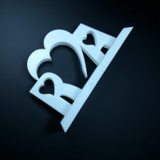 Picture of print of Love and Friendship - Initials with base