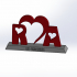 Love and Friendship - Initials with base image