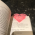 Valentines Heart bookmark image