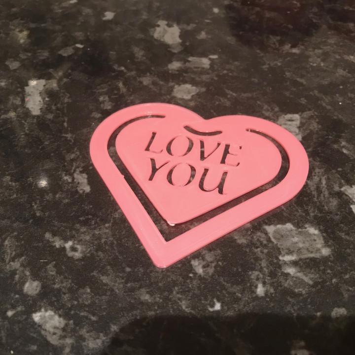 Valentines Heart bookmark