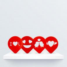 Valentine's Coffee Stencil