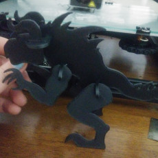 """Picture of print of Fallout Deathclaw """"Puzzle"""" Kit"""