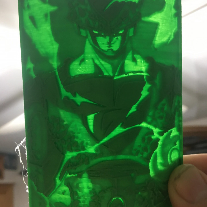 DragonBall Z Perfect Cell Lithophane