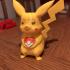 Valentine Pikachu print image