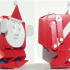 Boxing Santa biped robot image