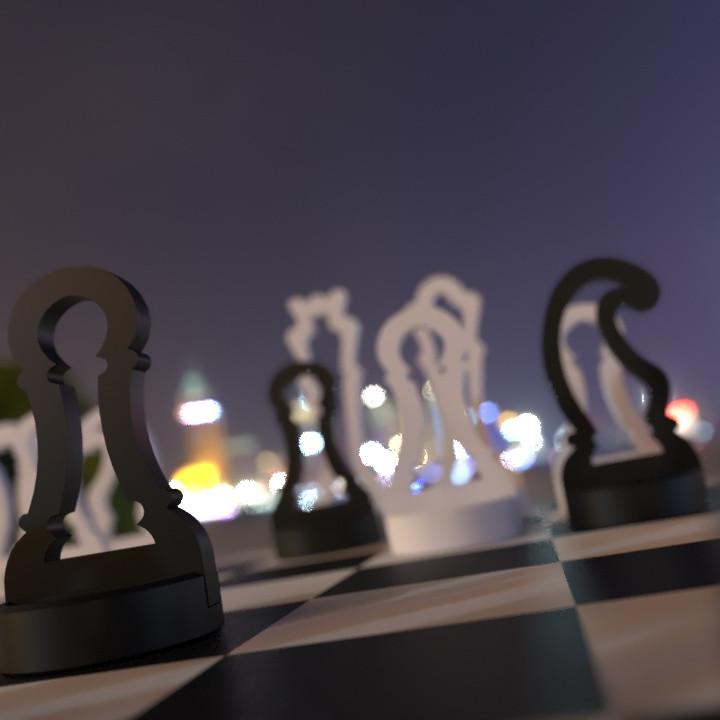 Minimal Chess-Draughts set