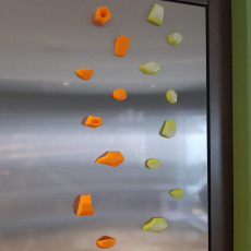 Climbing holds -- Fridge magnets