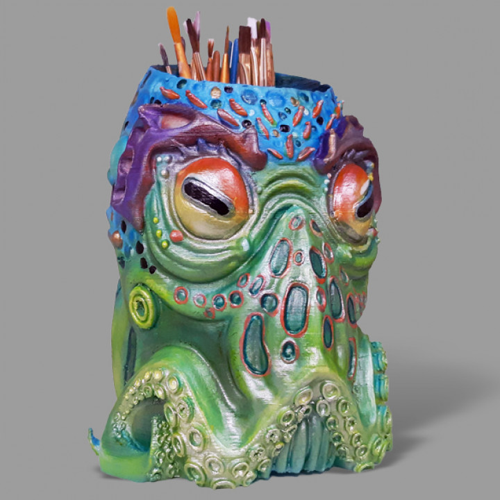 Octo paintbrush holder