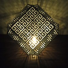 Picture of print of Greek Meander Lamp