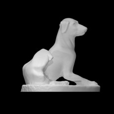 Statuette of a seated dog