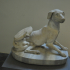 Statuette of a seated dog image