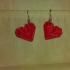 Heart wireframe earrings image
