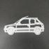 Peugeot 205 keychain image