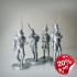 Pack of 4 Napoleonic soldiers. image